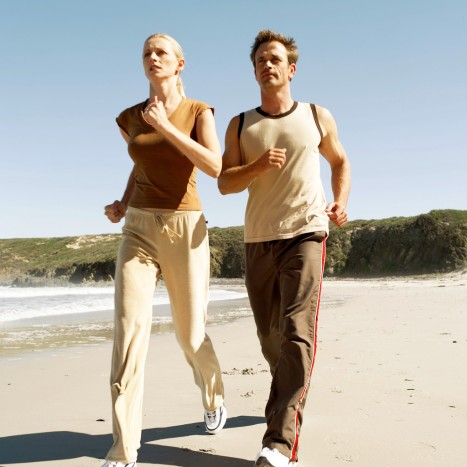 Doing 30 minutes of weigt bearing exercise, such as running, each day is a great way to help build strong bones.
